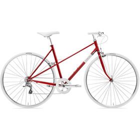 Creme Echo Uno Mixte - Bicicleta urbana mujer - rojo